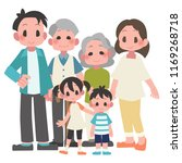 three generational households... | Shutterstock .eps vector #1169268718