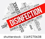 disinfection word cloud collage ... | Shutterstock .eps vector #1169270638