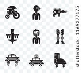 set of 9 transparent icons such ... | Shutterstock .eps vector #1169277175