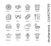 set of 16 simple line icons... | Shutterstock .eps vector #1169279755
