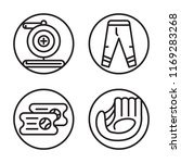 set of 4 vector icons such as... | Shutterstock .eps vector #1169283268
