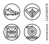 set of 4 vector icons such as... | Shutterstock .eps vector #1169283478