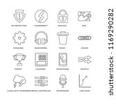 set of 16 simple line icons... | Shutterstock .eps vector #1169290282
