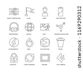 set of 16 simple line icons... | Shutterstock .eps vector #1169290312