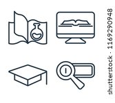 set of 4 vector icons such as... | Shutterstock .eps vector #1169290948