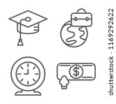 set of 4 vector icons such as... | Shutterstock .eps vector #1169292622