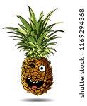 cute fresh pineapple cartoon... | Shutterstock .eps vector #1169294368
