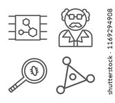 set of 4 vector icons such as... | Shutterstock .eps vector #1169294908