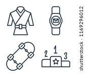 set of 4 vector icons such as... | Shutterstock .eps vector #1169296012