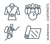 set of 4 vector icons such as... | Shutterstock .eps vector #1169296072