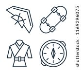 set of 4 vector icons such as... | Shutterstock .eps vector #1169296075