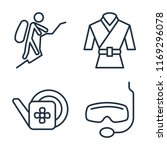 set of 4 vector icons such as... | Shutterstock .eps vector #1169296078