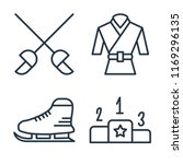 set of 4 vector icons such as... | Shutterstock .eps vector #1169296135