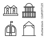set of 4 vector icons such as... | Shutterstock .eps vector #1169297125