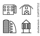 set of 4 vector icons such as... | Shutterstock .eps vector #1169297212