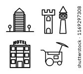 set of 4 vector icons such as... | Shutterstock .eps vector #1169297308
