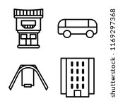 set of 4 vector icons such as... | Shutterstock .eps vector #1169297368