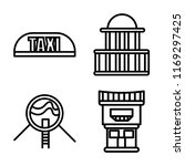 set of 4 vector icons such as... | Shutterstock .eps vector #1169297425