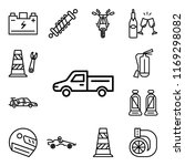 set of 13 linear editable icons ... | Shutterstock .eps vector #1169298082