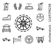 set of 13 linear editable icons ... | Shutterstock .eps vector #1169298238