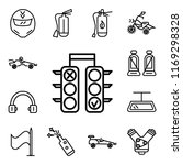 set of 13 linear editable icons ... | Shutterstock .eps vector #1169298328