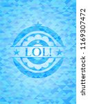 lol  sky blue emblem with... | Shutterstock .eps vector #1169307472