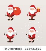 set of santa claus. vector... | Shutterstock .eps vector #116931592