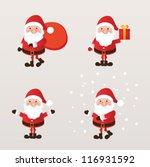 set of santa claus. vector... | Shutterstock .eps vector #116931592