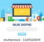 online shopping  eshop ...   Shutterstock .eps vector #1169320045
