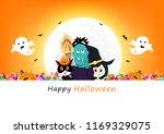 happy halloween invitation... | Shutterstock .eps vector #1169329075