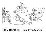 women sitting in different...   Shutterstock .eps vector #1169332078