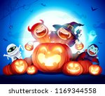halloween celebration fun party.... | Shutterstock .eps vector #1169344558