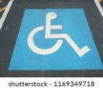 handicapped parking spot sign   Shutterstock . vector #1169349718