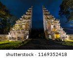Bali Landmark Gate At Night