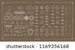 vector set of calligraphic... | Shutterstock .eps vector #1169356168