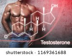 muscular male body and... | Shutterstock . vector #1169361688