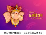 illustration of lord ganpati... | Shutterstock .eps vector #1169362558
