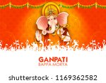 illustration of lord ganpati... | Shutterstock .eps vector #1169362582