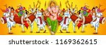 illustration of lord ganpati... | Shutterstock .eps vector #1169362615