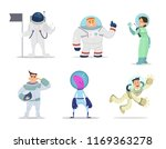 male and female astronauts....   Shutterstock . vector #1169363278