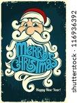 christmas card 3 1 | Shutterstock .eps vector #116936392