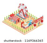 modern isolated circus and... | Shutterstock .eps vector #1169366365