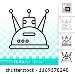 robot thin line icon. outline... | Shutterstock .eps vector #1169378248