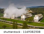 cooling towers of a coal power... | Shutterstock . vector #1169382508