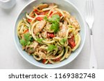 vegetarian stir fry with chilli ... | Shutterstock . vector #1169382748