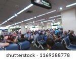 blur airport people sit waiting ... | Shutterstock . vector #1169388778