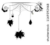 decorative spider web with... | Shutterstock .eps vector #1169392468
