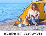 happy weekend by the sea   girl ... | Shutterstock . vector #1169394055