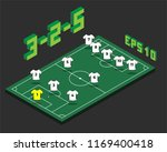 football 3 2 5  formation with... | Shutterstock .eps vector #1169400418