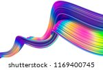 bright abstract holographic 3d... | Shutterstock . vector #1169400745